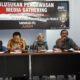 Diskusi Bawaslu Kabupaten Nunukan bersama media. (FOTO: NUSANTARANEWS.CO/Eddy Santri)
