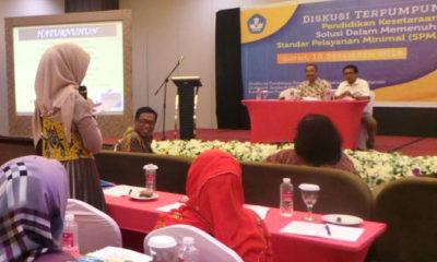 Diskusi Kelompok Terpumpun Pendidikan Kesetaraan Solusi Dalam Memenuhi Standar Pelayanan Minimal, di Favehotel Cimanuk Garut Jawa Barat. (FOTO: Dok Kemendikbud)