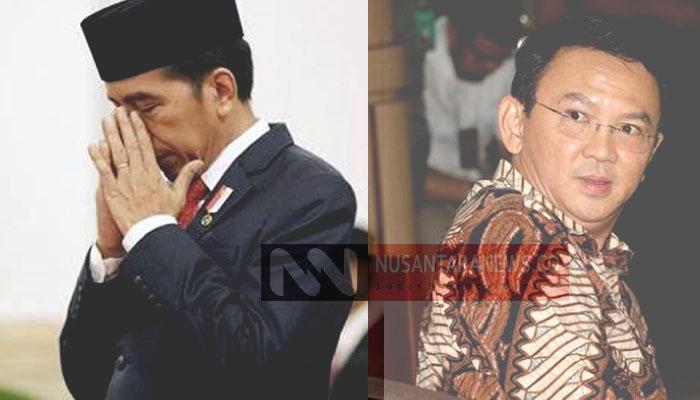 Jokowi (Presiden Joko Widodo) dan Ahok (Mantan Gubernur DKI Jakarta Basuki Tjahaja Purnama). (Ilustrasi: NUSANTARANEWS.CO)