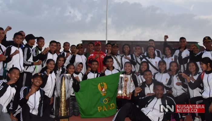 Kontingen Atletik Angkatan Darat Juarai Kejurnas Altetlik Piala Panglima TNI (Foto Dok. NUSANTARANEWS/Pendam Brawijaya)