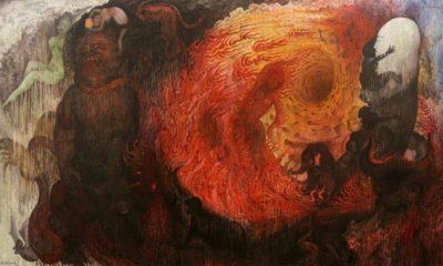 Lukisan karya I Ketut Budiana (Duka di Pelupuk Mata/Ilustrasi). FOTO: Istimewa