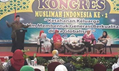 Menag Lukman Hakim Saifuddin saat menghadiri Kongres Muslimah Indonesia Ke-2. (FOTO: Dok. Kemenag)