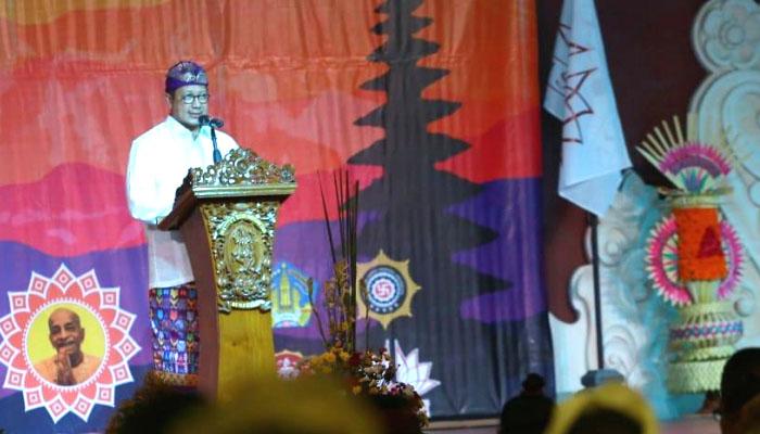 Menak Luman pada Perayaan Gita Jayanti di Denpasar, Bali. (FOTO: Dok. Kemenag)