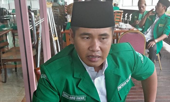 Moh Abid Umar (Gus Abid) resmi memimpin GP Ansor Jatim. (FOTO: NUSANTARANEWS.CO/Setya)