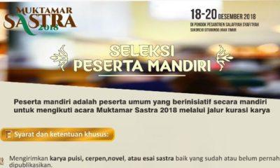 Muktamar Sastra 2018 (ilustrasi/istimewa)