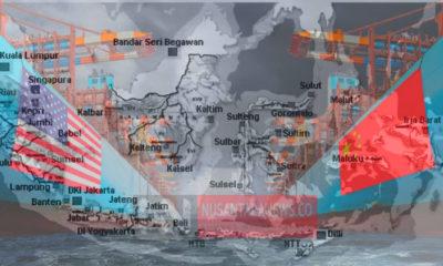 Pertarungan Hegemoni antara Cina dengan AS di Indonesia. (Ilustrasi: NUSANTARANEWS.CO)