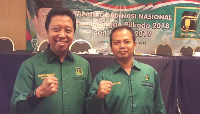 Politisi PPP Idy Muzayaad (Kanan) bersama Ketua Umum DPP PPP M Romahurmuziy. (FOTO: Dok. Pribadi/Istimewa)