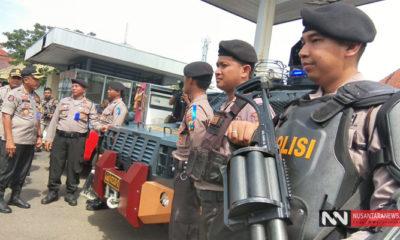 Polrestabes Surabaya Kerahkan 2500 Personel Amankan Pergantian Tahun Baru 2019 (Foto: Setya/NUSANTARANEWS.CO)