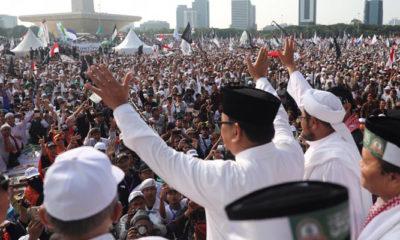 Prabowo Subianto di Hadapan Peserta Reuni 212 (Foto Istimewa)