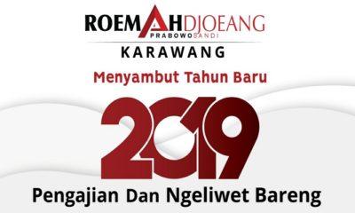 Sambut Tahun Baru, Roemah Djoeang Prabowo-Sandi di Karawang dan Bekasi Adakan Pengajian