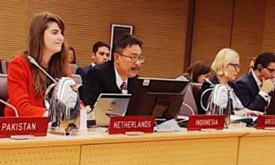 Sekretaris Jenderal Kementerian Pertanian Syukur Iwantoro dalam sidang IFD Executive Board ke-125 di Roma, Italia, Jumat (14/12/2018). (FOTO: Kementan)