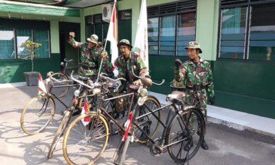 napak tilas jenderal sudirman, sepeda onthel, hut kodam brawijaya, nusantara news