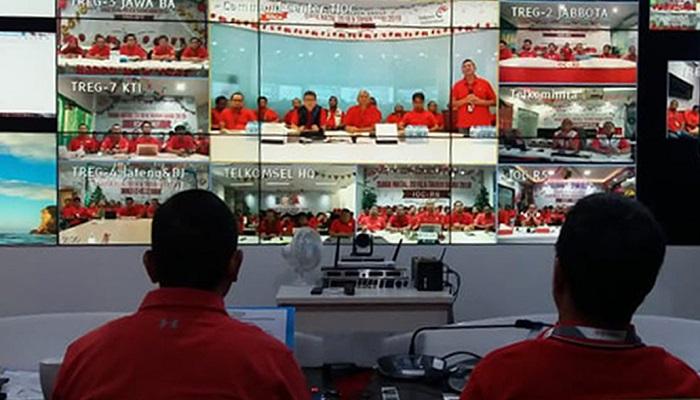 telkomgroup, posko telkom, telkom indonesia, trafik telekomunikasi nasional, siaga natal 2018, posko nasional, telkom siaga, posko telkomgroup siaga, layanan telkomgroup, nusantaranews