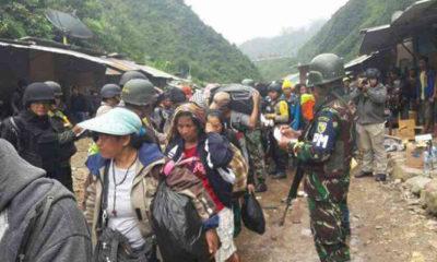 Tim Gabungan TNI Polri Lakukan Evakuasi Korban Penyanderaan OPM pada 17 November 2017 (Foto Dok. Nusantaranews)