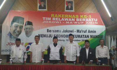 Tim Relawan Bersatu Jokowi-Ma'ruf Amin Susun Strategi Pemenangan di Pilpres 2019. (FOTO: NUSANTARANEWS.CO/Romandhon)