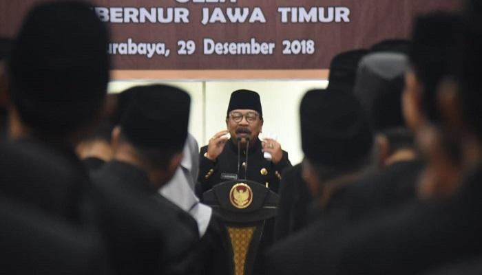 kepala sekolah jatim, pelantikan kepala sekolah, soekarwo, jawa timur, gubernur jatim, pakde karwo, nusantaranews