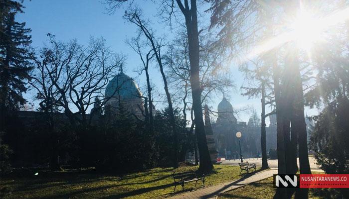 Pesona menakjubkan dari pemandangan di luar Makam Mirogoj di Zagreb (Foto Dok. NUSANTARANEWS.CO)