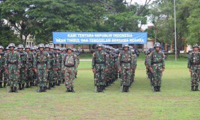 upacara pembukaan Napak Tilas Rute Panglima Besar Jenderal Sudirman (RPS) di Lapangan Peta Pacitan, Jawa Timur. (FOTO: pen81)