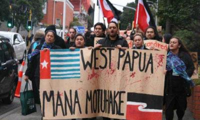 Aksi Kelompok Maori Memberikan Dukungan Kepada Papua Karena Merasa Sebagai Saudara Dekat. (Foto freewestpapua.org)