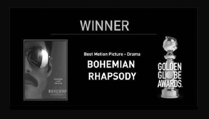 Bohemian Rhapsody Best Motion Picture Drama Golden Globe 2019. (FOTO: @goldenglobes)