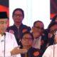 Capres 01 Joko Widodo mempersilahkan cawapresnya Kiai Ma'ruf Amin untuk menambahkan jawabannya. (FOTO: NUSANTARANEWS.Co)
