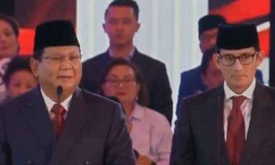 Capres 02 Prabowo Subianto memberikan tanggapan kepada Jokowi terkait penegakan Hukum dan HAM selamat 4 tahun terakhir. (FOTO: NUSANTARANEWS.Co)