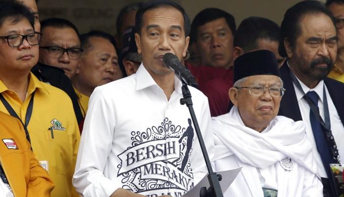 Capres Cawapres 01, Jokowi dan KH Ma'ruf Amin (Foto AFP)