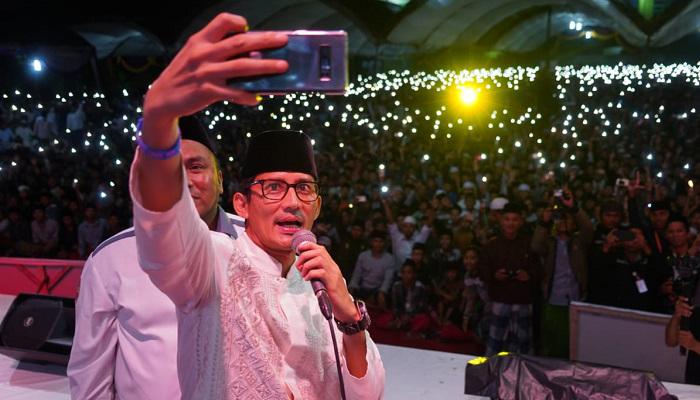 Cawapres 02 Sandiaga Salahuddin Uno di Ponpes Mambaul Ulum Bata-Bata Pamekasan. (FOTO: Istimewa)