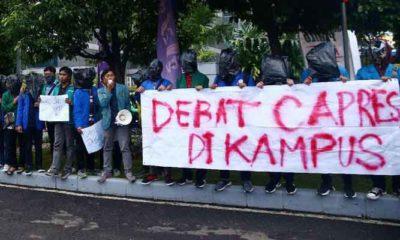 Demo BEM SI menjelang Debat Perdana Capres-Cawapres 2019. (FOTO: Istimewa)