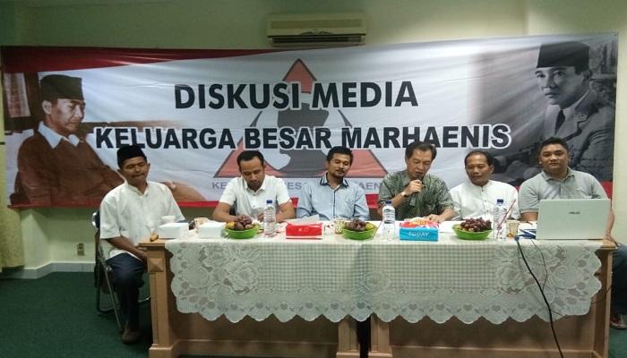 Diskusi Dewan Pimpinan Nasional Keluarga Besar Marhaenis bertajuk Pelaksanaan Reforma Agraria Pada Era Jokowi-JK, Jumat (11/1/2019). (Foto: Istimewa)