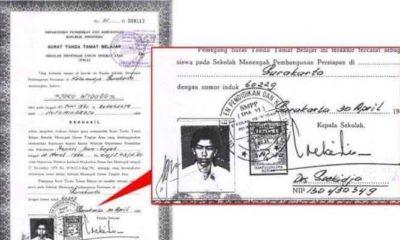 Ijazah Jokowi yang disebarkan di media sosial dan diduga sebagai ijazah palsu. (FOTO: Istimewa)