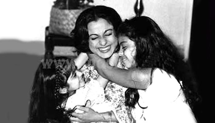Kajol Mukherjee bersama Tanisha dan ibunya, Tanuja. (FOTO: India TV)