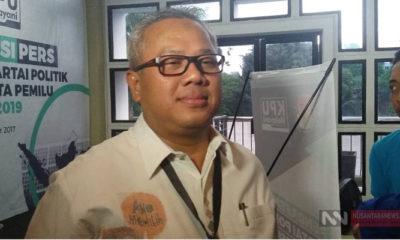 Ketua KPU, Arief Budiman. (Foto Restu Fadilah NUSANTARANEWS.CO)