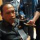 Kuasa Hukum terlapor saat di wawancarai awak media di Kantor Bawaslu Sumenep. (FOTO: NUSANTARANEWS.CO/M. Mahdi)