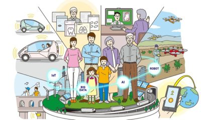 Masyarakat 5.0 (Society 5.0) di Jepang. (Ilustrasi: Dok. globaljalan.world)