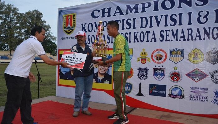 PSAD Kodam Diponegoro Juara Divisi I PSSI Kota Semarang