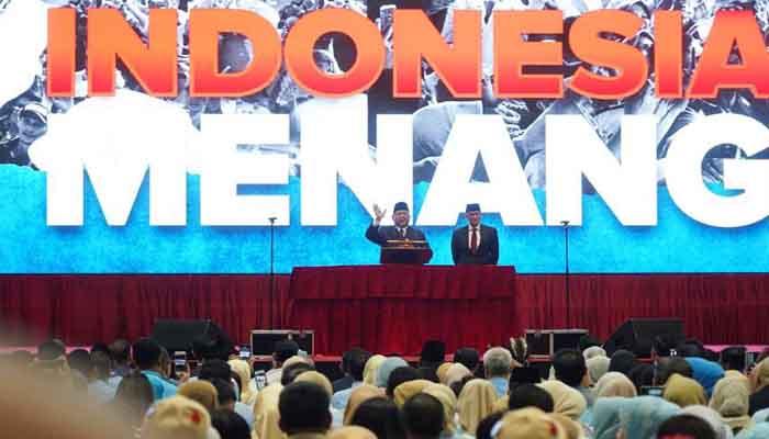 Pidato Kebangsaan Prabowo Subianto - Indonesia Menang. (FOTO: Istimewa)