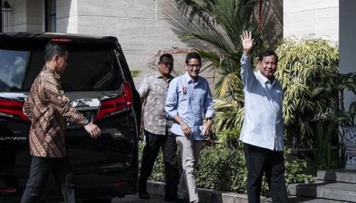 Prabowo dan Sandi bertemu SBY. (FOTO: CNN Indonesia)