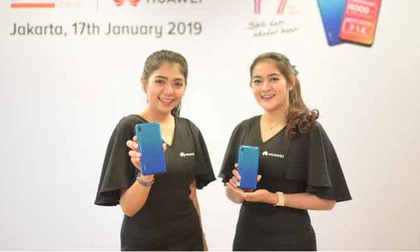 Preview Handphone terbaru Huawei Y7 Pro 2019. (FOTO: DOK. HAFIYYAN FAZA)