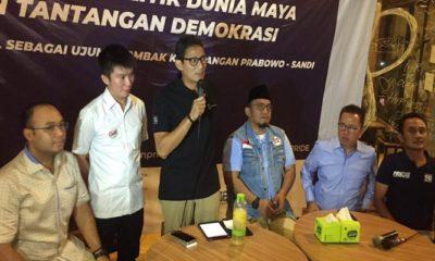 Sandiaga Uno Larang Tim Medsos Prabowo-Sandi Gunakan Kata 'Cebong' untuk Lawan Politik, nusantaranews