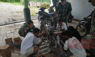 Satgas Yonif Raider Bagikan Ilmu Perbengkelan Kepada Warga di Perbatasan RI-Timor Leste (Foto Istimewa)