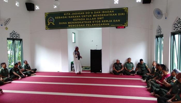 siraman rohani, masjid baladhika jaya, korem baladhika jaya, prajurit baladhika jaya, nusantara news