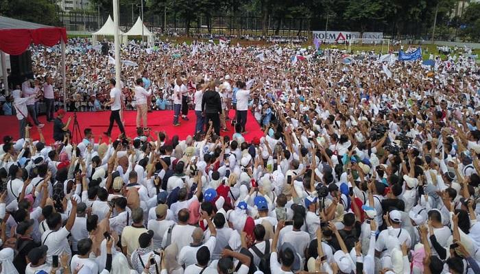 Kegiatan jalan sehat Prabowo Subianto di Jakarta
