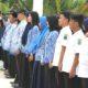 ASN dan Tenaga Honorer dalam sebuah Upacara di Nunukan, Kalimantan Utara. (Foto: Eddy Santri/NUSANTARANEWS.CO)