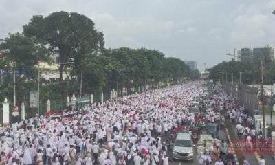 Acara Jalan Sehat Roemah Djoeang Prabowo-Sandi (Foto Dok. NUSANTARANEWS.CO)