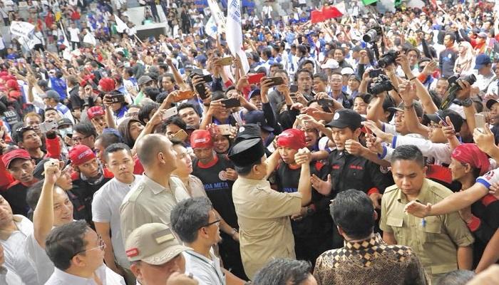 Aksi Buruh dukung Prabowo