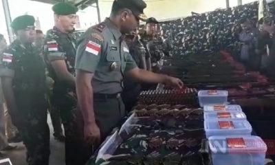 Danrem WS Brigjen TNI Syaiful Rahman, saat melakukan kunjungan ke Mako Satgas Pamtas RI-RDTL (Foto Dispenad untuk NUSANTARANEWS.CO).