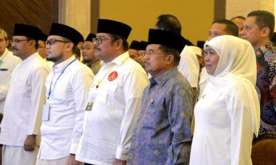 Wakil Presiden Jufu Kalla (JK) menghadiri Forum Silaturahmi Kiai-kiai muda di Surabaya, Jawa Timur, Sabtu (23/2/2019). (Foto: Setya N/NUSANTARANEWS.CO)