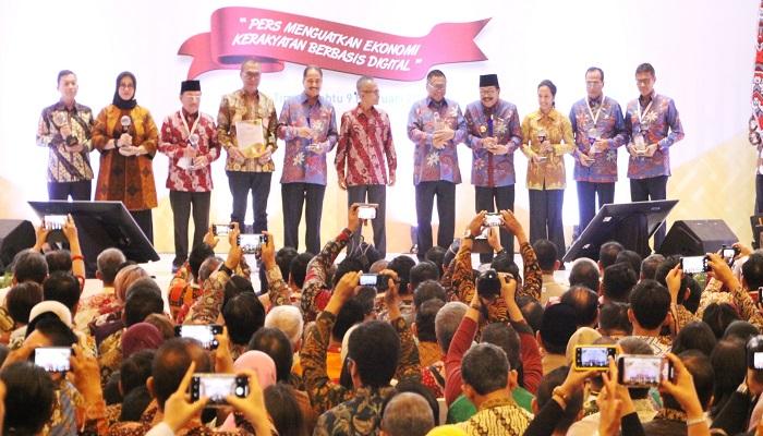Puncak Peringatan Hari Pers Nasional Tahun 2019 bersama Presiden RI Joko Widodo di Surabaya, sabtu (9/2). (Foto: Setya N/NUSANTARANEWS.CO)