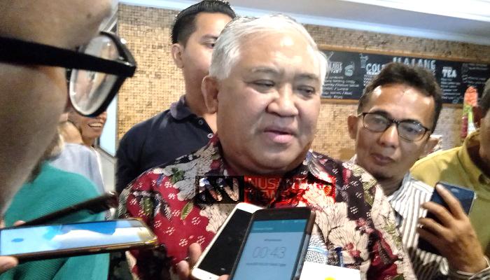 Ketua Dewan Pertimbangan Majelis Ulama Indonesia (MUI) Din Syamsuddin sebut lahan HGU (Hak Guna Usaha) milik Prabowo Subianto dimensi personal dan tak perlu didebatkan, Selasa (26/2/2019). (Foto: Romandhon/NUSANTARANEWS.CO)